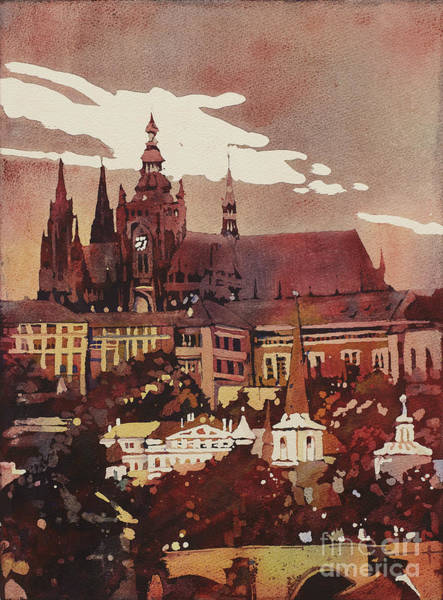 Wall Paper Painting - Prague Castle by Ryan Fox