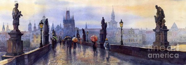 Wall Art - Painting - Prague Charles Bridge by Yuriy Shevchuk