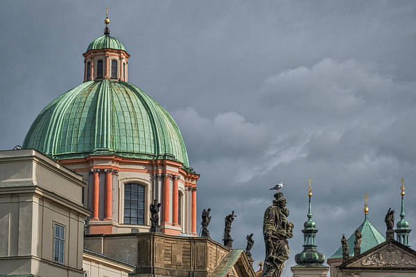 Photograph - Prague Church Dome by Stuart Litoff