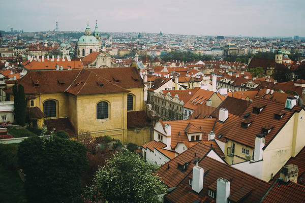 Wall Art - Photograph - Prague City Rooftop View by Pati Photography