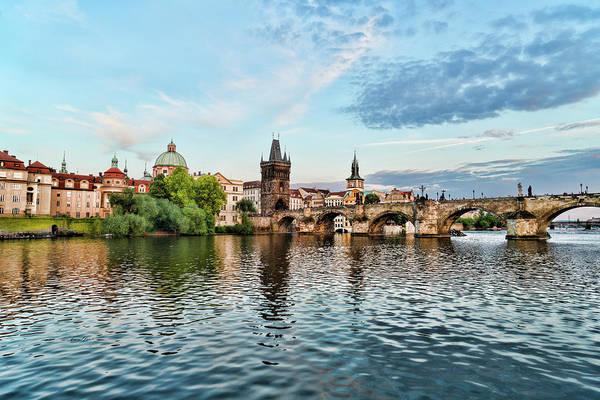 Prague From The River Art Print