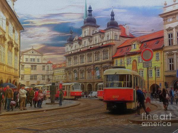 Prague, Old Town, Street Scene Art Print