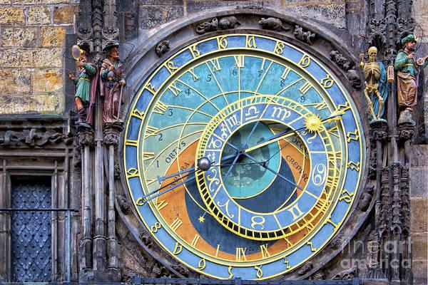 Town Square Wall Art - Photograph - Prague Orloj by Delphimages Photo Creations