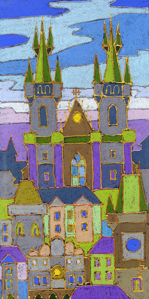 Wall Art - Painting - Prague Panorama by Yuriy Shevchuk