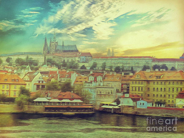 Prague Riverview Art Print