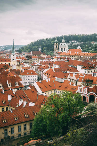 Wall Art - Photograph - Prague Rooftops View by Pati Photography