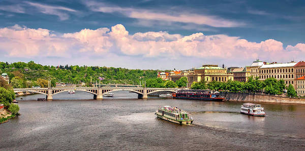 Photograph - View From The Charles Bridge by Endre Balogh
