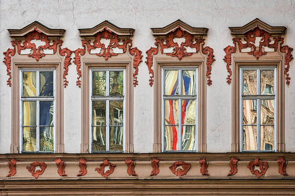 Photograph - Prague Window Reflections by Stuart Litoff