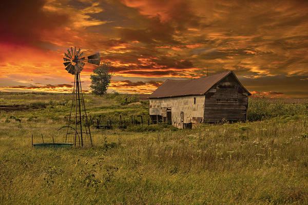 Tallgrass Wall Art - Photograph - Prairie Barn by Jonas Wingfield