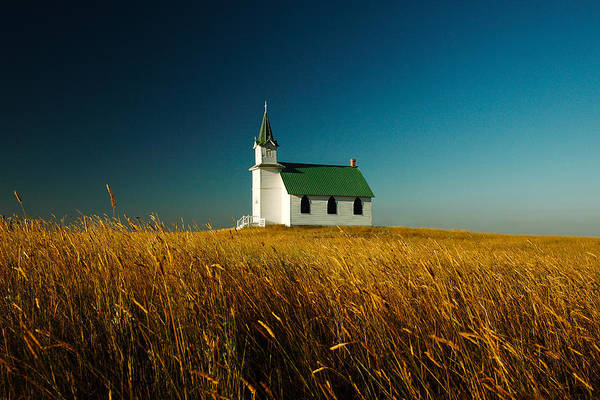 Protestant Photograph - Prairie Church by Todd Klassy