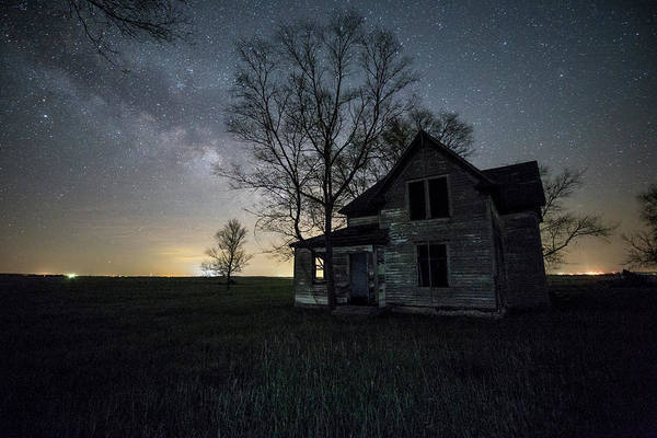 Middle Of Nowhere Photograph - Prairie Gold And Milky Way by Aaron J Groen