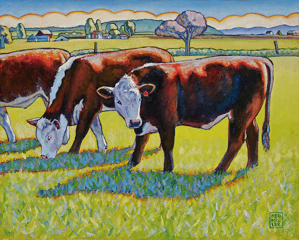 Wall Art - Painting - Prairie Lunch by Stacey Neumiller