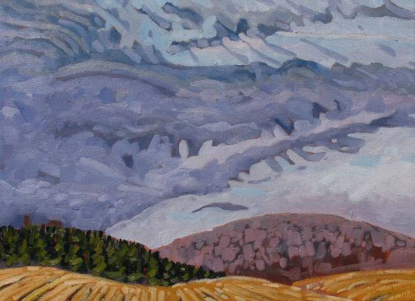 Watershed Painting - Prairie Schooner Altocumulus by Phil Chadwick
