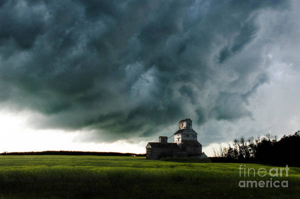 Grain Elevator Photograph - Turbulent Times by Bob Christopher