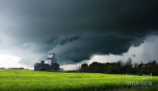 Grain Elevator Photograph - Prairie Storm by Bob Christopher
