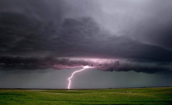 Wall Art - Photograph - Prairie Storm Clouds Lightning by Mark Duffy