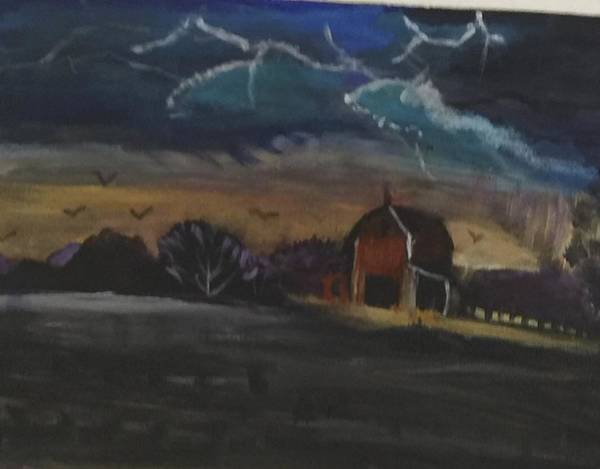Wall Art - Painting - Prairie Storm  by Julie Thomas-Zucker