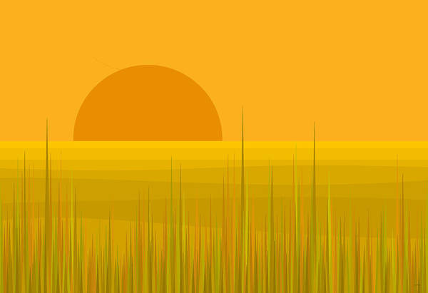 Digital Art - Prairie  Sundown by Val Arie
