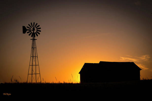 Photograph - Prairie Sunset Silhouette by Philip Rispin