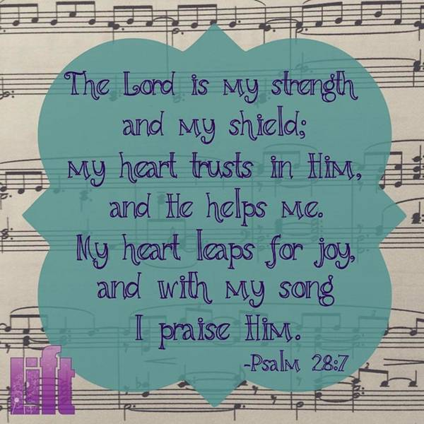 Design Wall Art - Photograph - Praise Be To The Lord,  For He Has by LIFT Women's Ministry designs --by Julie Hurttgam