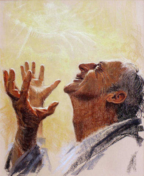 Painting - Praise. I Will Praise Him  by Graham Braddock