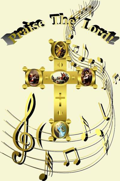 Digital Art - Praise The Lord by Robert G Kernodle