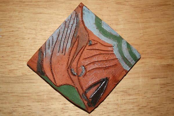 Ceramic Art - Praises - Tile by Gloria Ssali