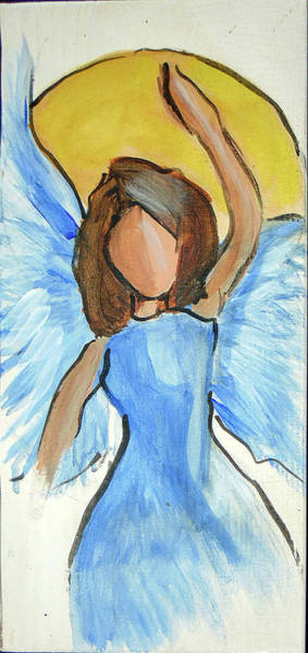 Painting - Praising Angel by Loretta Nash