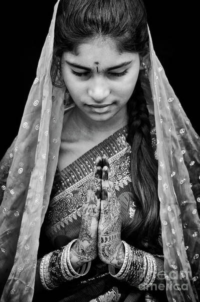 Prayers Photograph - Pranams Monochrome by Tim Gainey