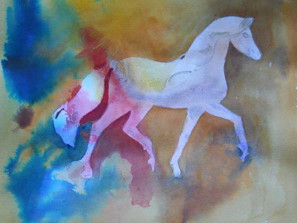 Painting - Prancing Pony by Audrey Bunchkowski