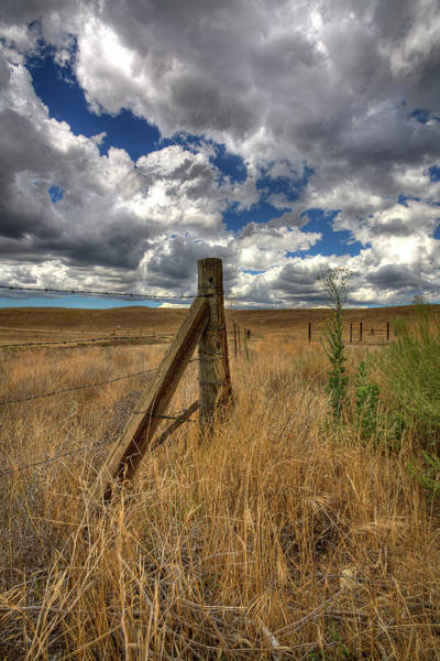 High Dynamic Range Photograph - Prarie Sky by Peter Tellone