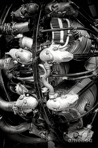 Vintage Airplane Photograph - Pratt And Whitney Twin Wasp by Olivier Le Queinec