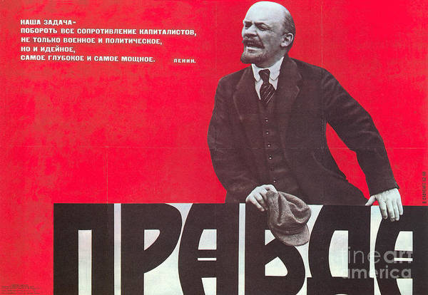 Photograph - Pravda: Communist Poster by Granger