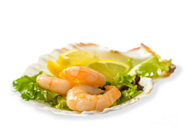 Seafood Photograph - Prawn Salad With Lemon by Amanda Elwell