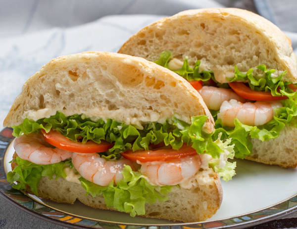 Photograph - Prawn Sandwich by Clare Bambers
