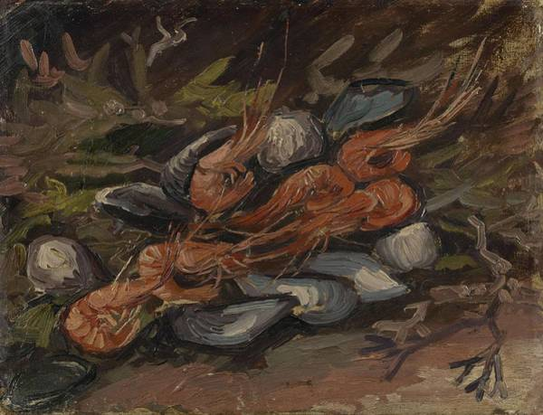 Painting - Prawns And Mussels Paris, September - November 1886 Vincent Van Gogh 1853  1890 by Artistic Panda