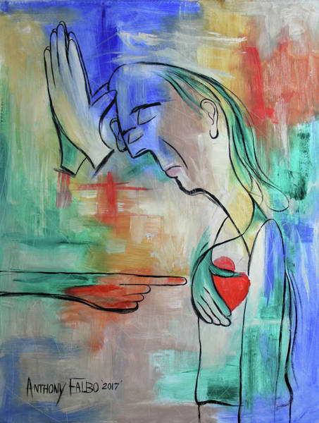 Wall Art - Painting - Pray For Me From The Heart by Anthony Falbo