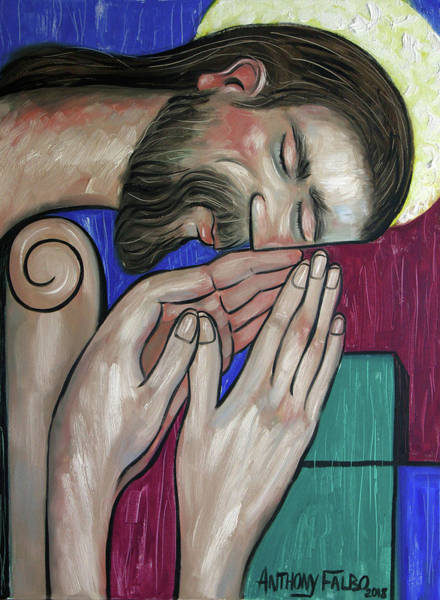 Painting - Pray Like Jesus by Anthony Falbo