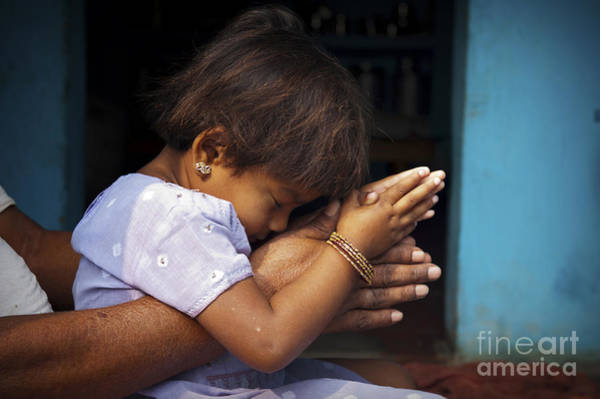 Daughter Photograph - Pray by Tim Gainey