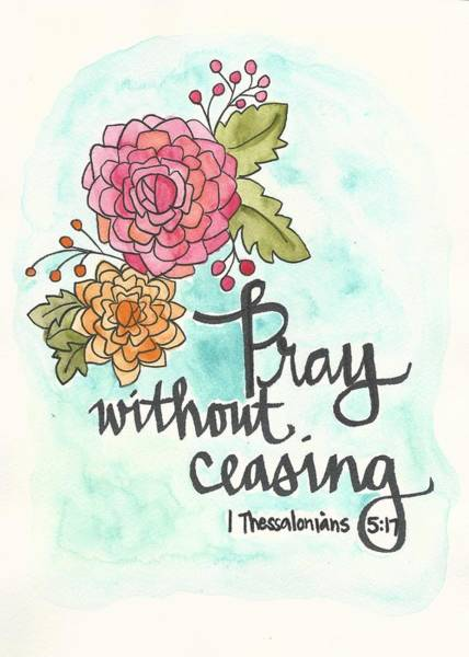 Painting - Pray Without Ceasing by Monica Martin