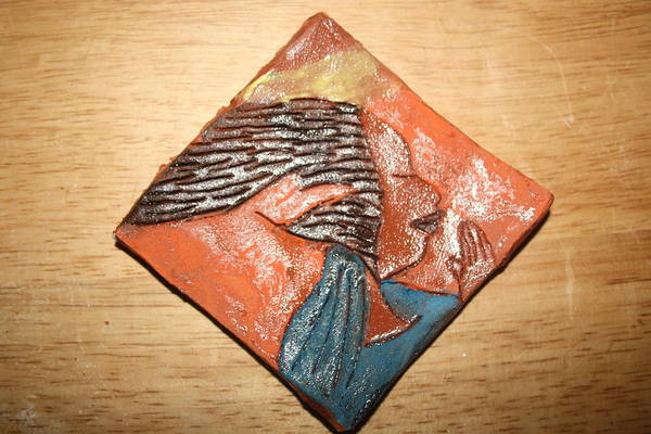 Ceramic Art - Prayer 11 - Tile by Gloria Ssali