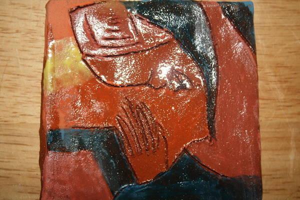 Ceramic Art - Prayer 13 - Tile by Gloria Ssali