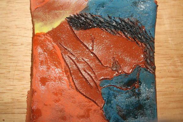 Ceramic Art - Prayer 15 - Tile by Gloria Ssali
