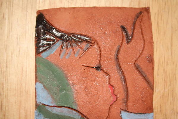 Ceramic Art - Prayer 20 - Tile by Gloria Ssali