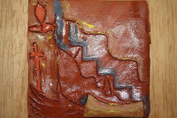 Ceramic Art - Prayer 24 - Tile by Gloria Ssali