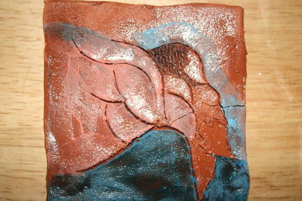 Ceramic Art - Prayer 5 - Tile by Gloria Ssali