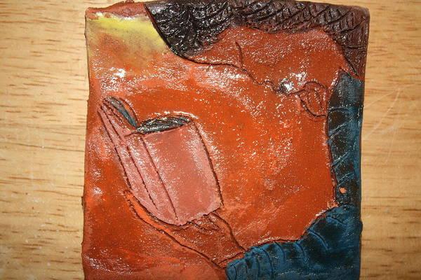 Ceramic Art - Prayer 6 - Tile  by Gloria Ssali