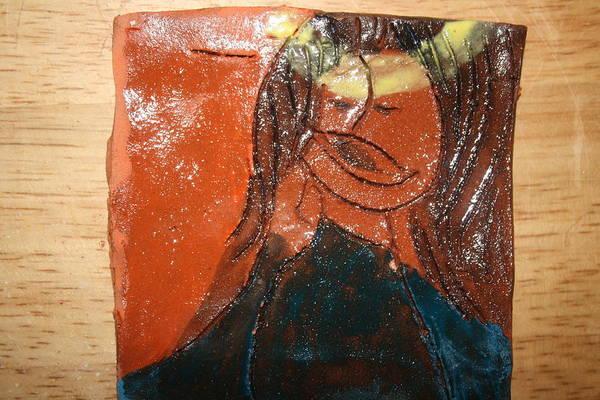 Ceramic Art - Prayer 8 - Tile by Gloria Ssali