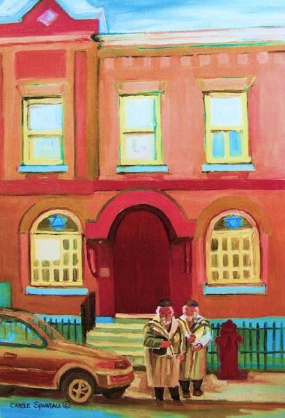 Painting - Prayer Shawls by Carole Spandau