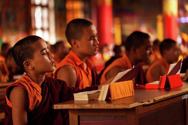 Photograph - Prayer Time At Bylakuppe, India by Mahesh Balasubramanian
